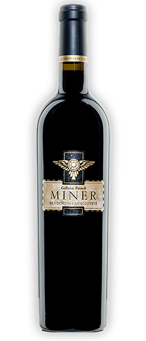 Miner Family Winery 2012 Sangiovese Bottle