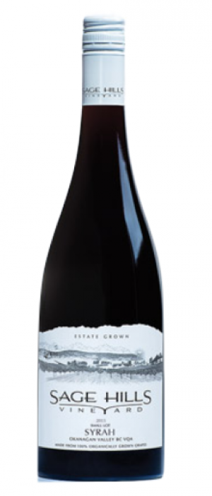 Sage Hills Organic Vineyard & Winery 2015 Syrah (Shiraz) Bottle