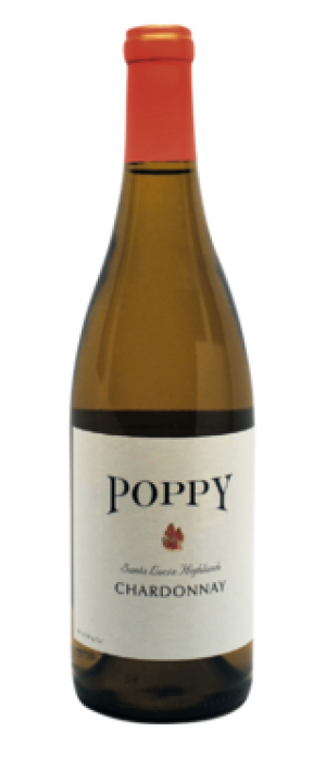 Poppy Wines 2015 Chardonnay Bottle