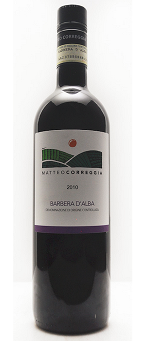 Matteo Correggia Barbera D'Alba 2010 | Red Wine