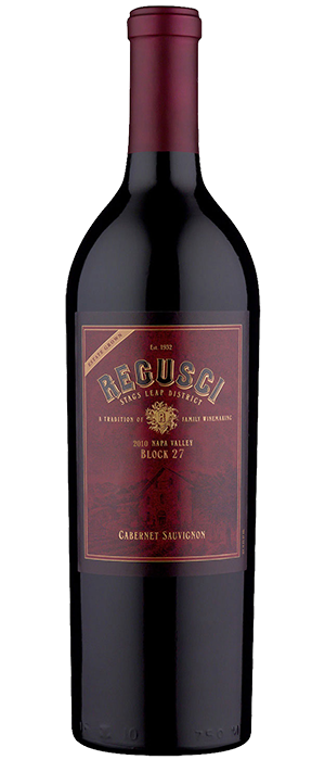 Regusci Cabernet Sauvignon Block 27 Stags Leap District Bottle