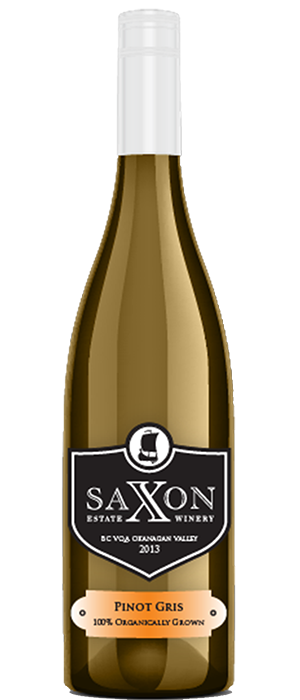 Saxon Estate Winery 2013 Pinot Gris (Grigio) Bottle