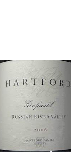 Hartford Family Winery 2006 Zinfandel Bottle