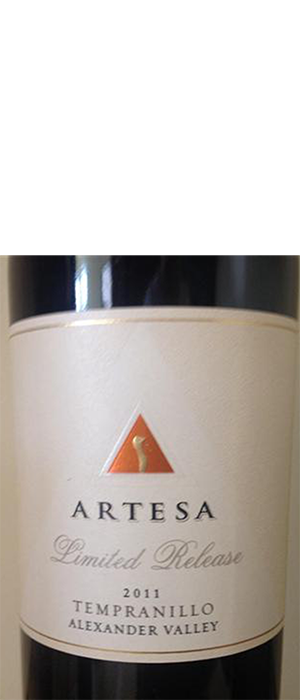 Artesa Winery 2011 Tempranillo | Red Wine