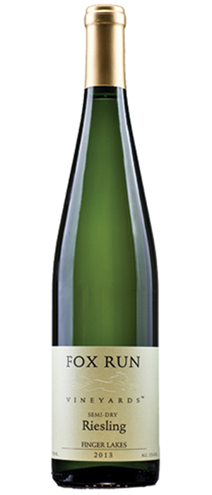 Fox Run Vineyards 2013 Riesling Bottle