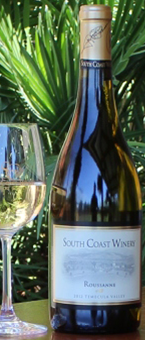 South Coast Winery 2012 Roussanne Bottle