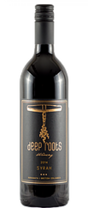 Deep Roots Winery 2016 Syrah Bottle