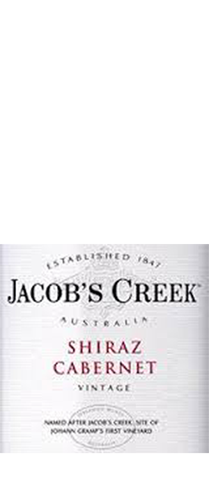 Jacob's Creek 2013 Cabernet Sauvignon blend Bottle