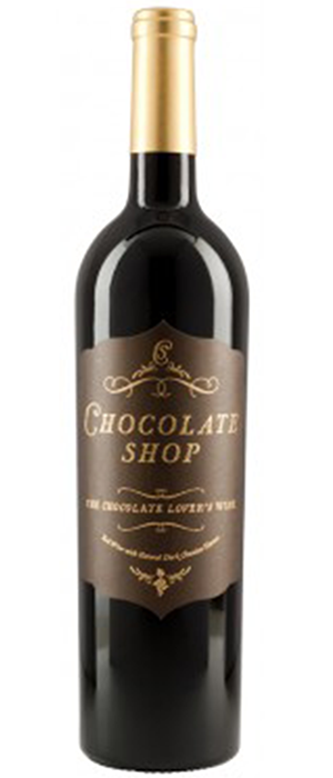 Chocolate Red Wine Bottle