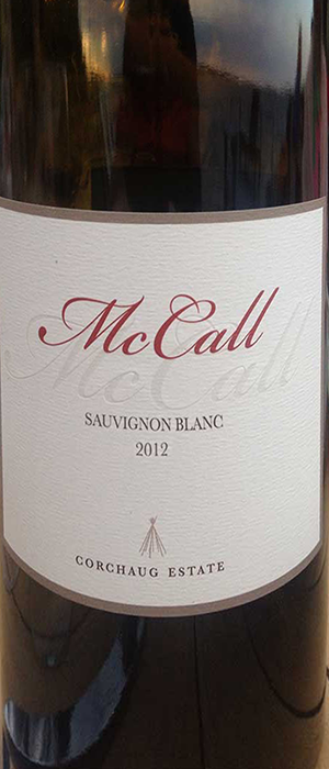 McCall Wines 2012 Sauvignon Blanc Bottle