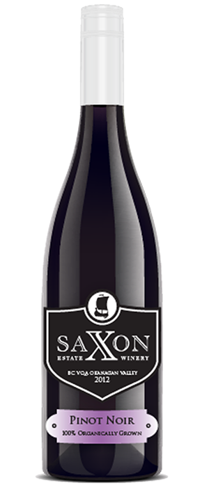 Saxon Estate Winery 2012 Pinot Noir Bottle