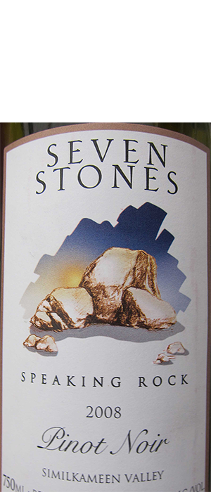 Seven Stones Winery 2010 Pinot Noir Bottle