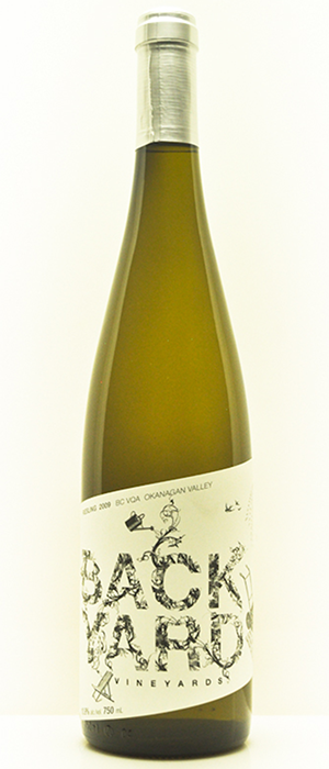 Backyard Vineyards 2012 Riesling Bottle