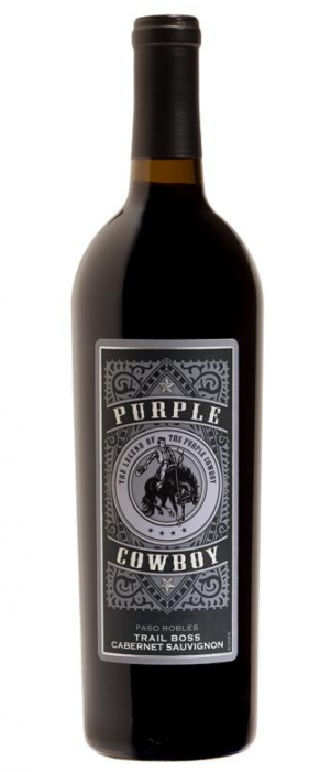 Purple Cowboy Trail Boss 2015 Cabernet Sauvignon Bottle