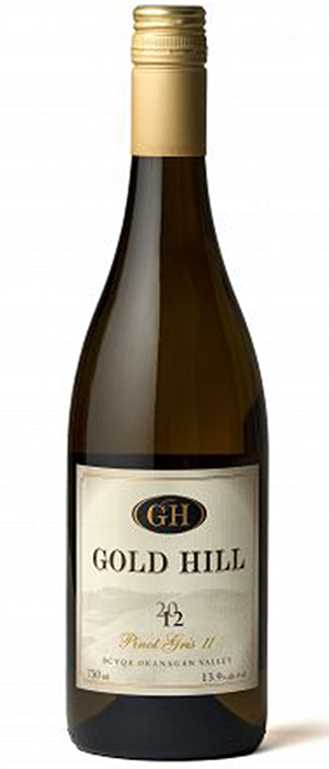Gold Hill 2012 Pinot Gris (Grigio) Bottle