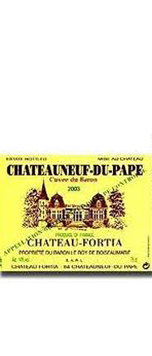Chateau Fortia 2003 Grenache blend | Red Wine