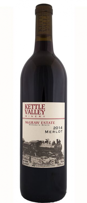 Kettle Valley Winery 2014 McGraw Estate Merlot Bottle