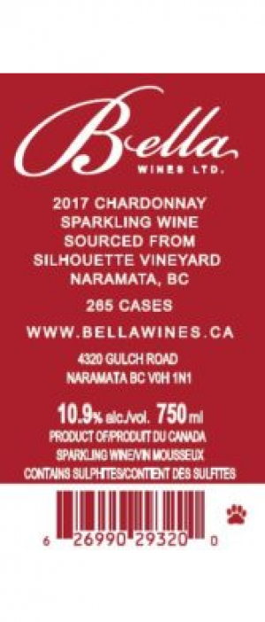 Bella Wines 2017 Sparkling Blanc de Blancs Silhouette Vineyards | White Wine