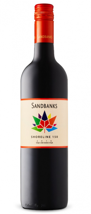 Sandbanks Winery Canada 150 Shoreline Red 2016 Bottle