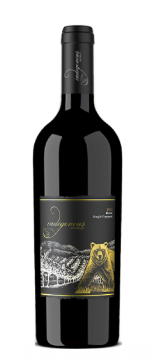 Indigenous World Winery 2014 Merlot Bottle