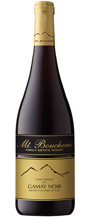 Mt. Boucherie Winery 2012 Gamay Noir Bottle