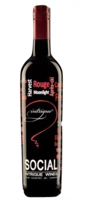 Intrigue Wines 2015 Social Red Bottle