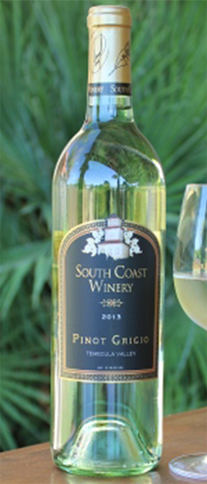 South Coast Winery 2013 Pinot Gris (Grigio) Bottle