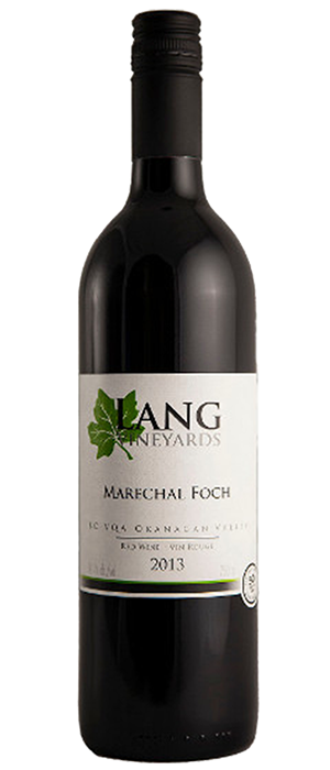 Lang Vineyards 2013 Marechal Foch Bottle