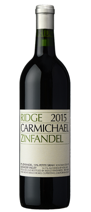 Ridge Vineyards 2015 Carmichael Zinfandel | Red Wine
