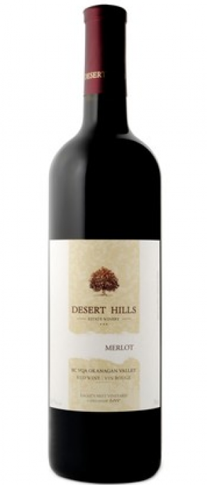Desert Hills Estate Winery 2014 Merlot Bottle