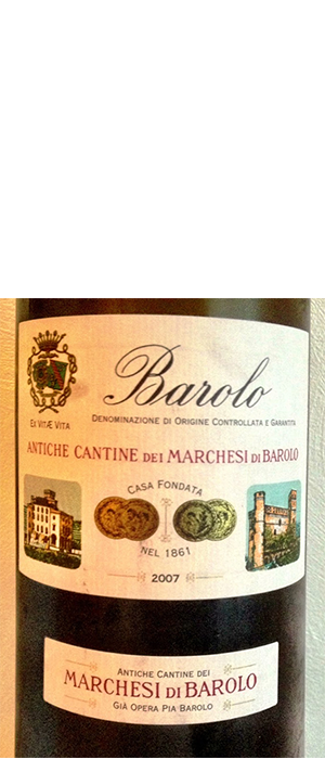 Marchesi Di Barolo 2007 Nebbiolo Bottle