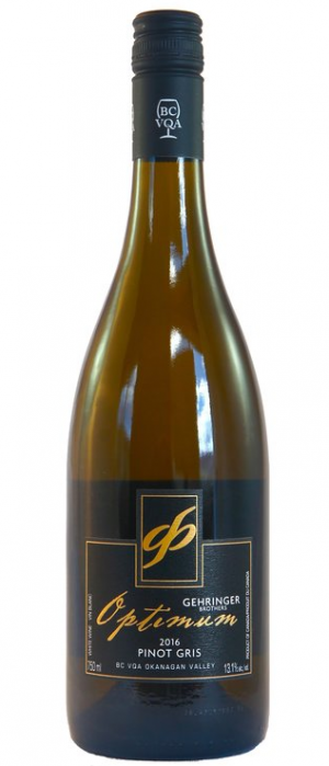 Gehringer Brothers Optimum 2016 Pinot Gris Bottle