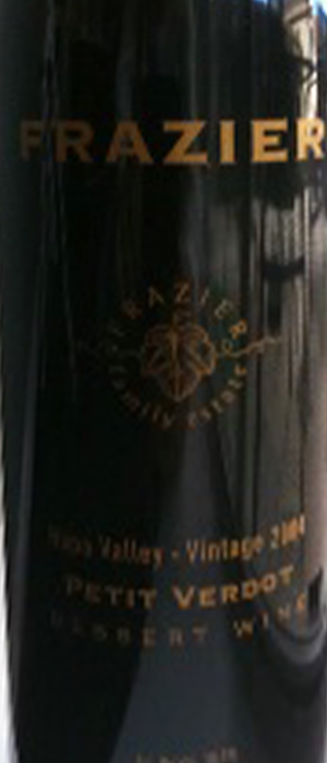 Frazier 2009 Petit Verdot Bottle