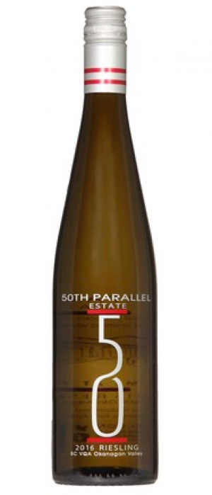 50th Parallel Estate 2016 Riesling Bottle