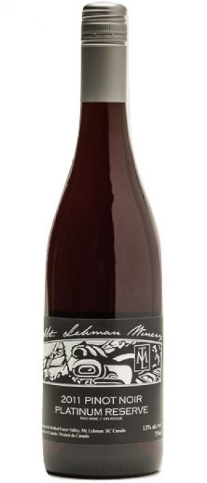 Mt. Lehman Winery 2014 Pinot Noir Platinum Reserve Bottle