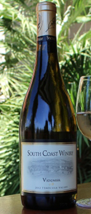 South Coast Winery 2013 Viognier Bottle
