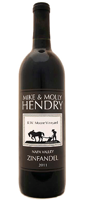Mike and Molly Hendry 2011 Zinfandel Bottle