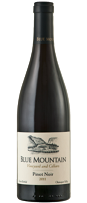 Blue Mountain Vineyard and Cellars 2011 Pinot Noir Bottle
