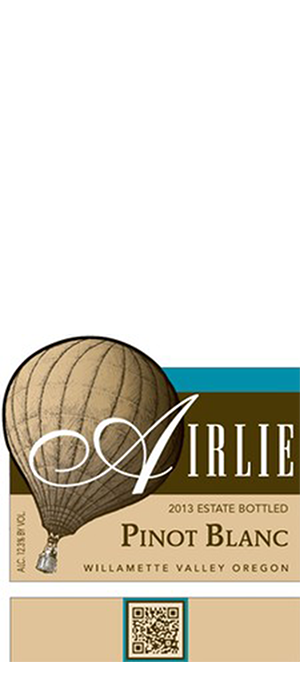 Airlie Winery 2013 Pinot Blanc Bottle