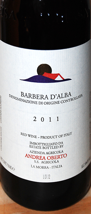 Andrea Oberto 2011 Barbera d'Alba Bottle