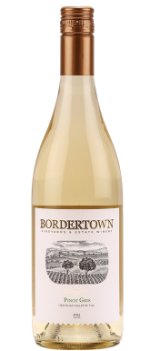 Bordertown Vineyards & Estate Winery 2015 Pinot Gris Bottle