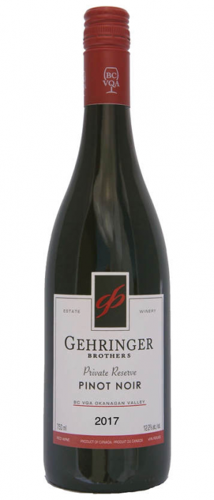 Gehringer Brothers Private Reserve 2017 Pinot Noir Bottle