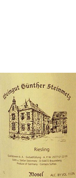 Günther Steinmetz 2011 Riesling Bottle