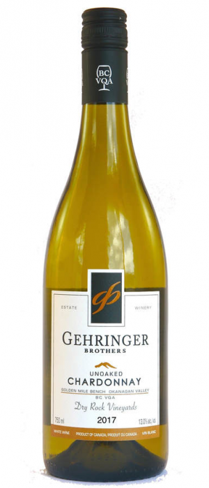Gehringer Brothers 2017 Unoaked Chardonnay Dry Rock Vineyards | White Wine