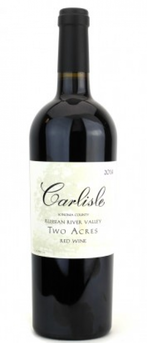 Carlisle Two Acres 2014 Red Wine Bottle