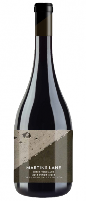Martin's Lane Winery Simes Vineyard 2014 Pinot Noir Bottle