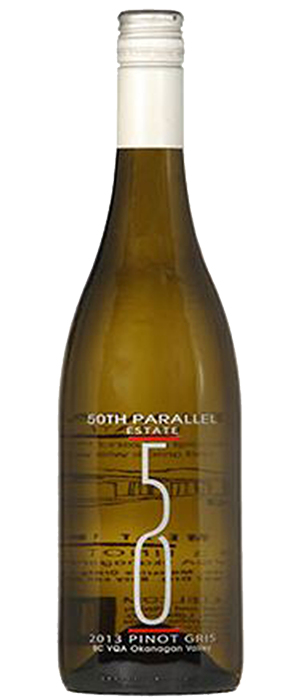 50th Parallel Estate 2012 Pinot Gris (Grigio) Bottle