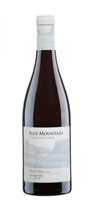 Blue Mountain Vineyard and Cellars 2013 Pinot Noir Bottle