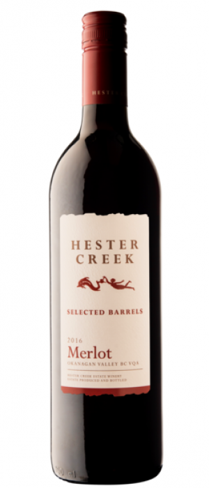 Hester Creek Estate Winery 2016 Selected Barrels Merlot Bottle