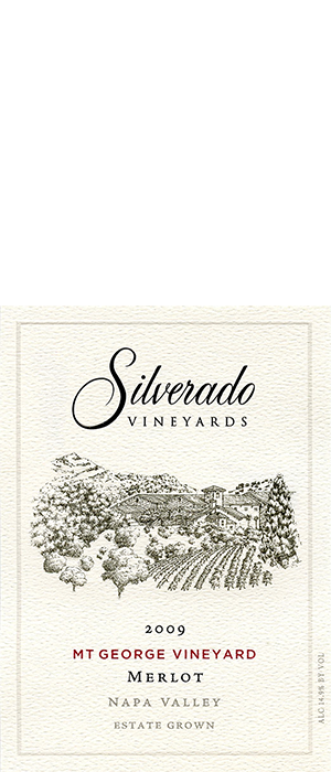 Silverado Vineyards 2009 Merlot Bottle